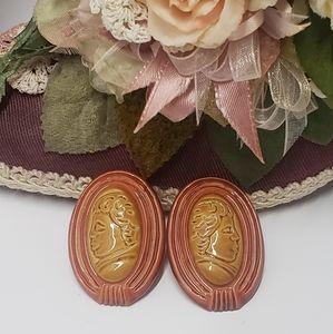 Vintage Acrylic Statement Earrings